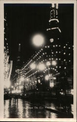 Night Scene on the Nanking Road Postcard