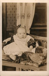 Infant Sitting on Fur