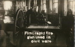 First Rapid Fire Gun Used in Civil War - Gatling