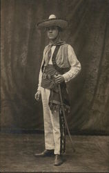 Hispanic Man in Regalia