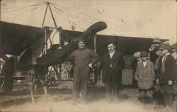 Early Aviators with Bleriot Airplane