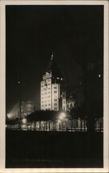 Cathay Hotel at Night Postcard