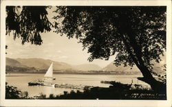 Sailboat, Scenery at Lake Quinault
