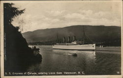 S.S. Empress of Canada, entering Lions Gate