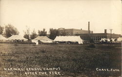 Normal School Campus After the Fire, 1914