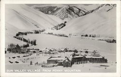 Sun Valley Village From Penny Mountain