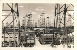 Oil Wells Postcard