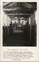 The Interior of the Chapel, Mission San Antonio