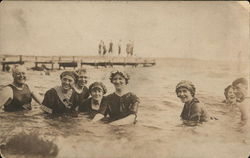 Group Bathing in Modest Swimsuits