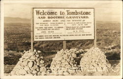 Welcome to Tombstone and Boothill Graveyard
