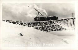 Rotary Snow Plow on Steel Bridge