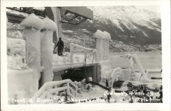 Iced Over Ship - Frank H. Brown