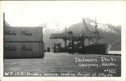 W.P. & Y.R. Straddle Carriers Loading Freight