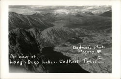 Air View of Long and Deep Lakes Postcard