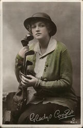 Gladys Cooper with Golf Clubs