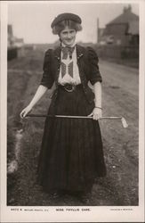 Phyllis Dare with Golf Club