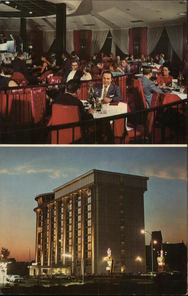 2 Views - Dining Room and Exterior of Holiday Inn Springfield Massachusetts
