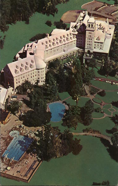 Aerial View of Resort Hotel, Claremont Berkeley California