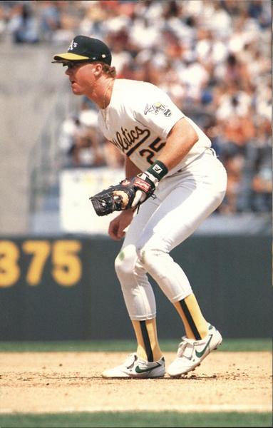Mark McGwire 25 - Oakland Athletics First Baseman Baseball ...