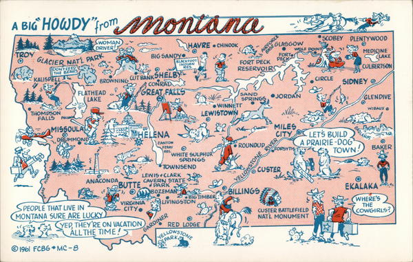 Pictorial Map of Montana Maps