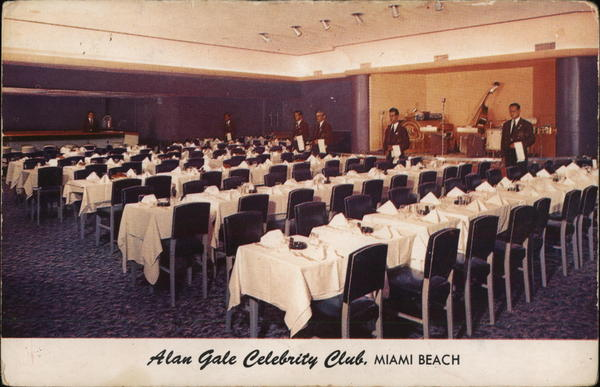 Alan Gale Celebrity Club Miami Beach Florida