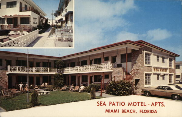 Sea Patio Motel & Apartments Surfside, FL Postcard