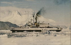 USCGC Staten Island at Hallett Station, Antarctica