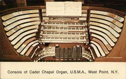 Console of Cadet Chapel Organ