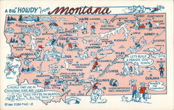 Pictorial Map of Montana