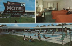 Miami Motel Postcard