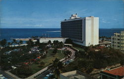 "Aerial View of the ""Caribe-Hilton Hotel"""