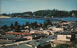 View of Town and Waldport Bridge