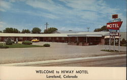 Welcome to Hiway Motel Postcard