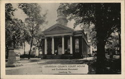 Loudoun County Court House and Confederate Monument