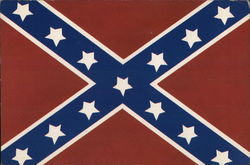Battle Flag of the Confederacy Postcard