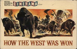 Promotional Movie Postcard - How the West Was Won - The Buffalo Stampede