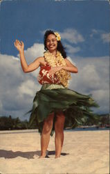 Lovely Hawaiian Hula Maiden