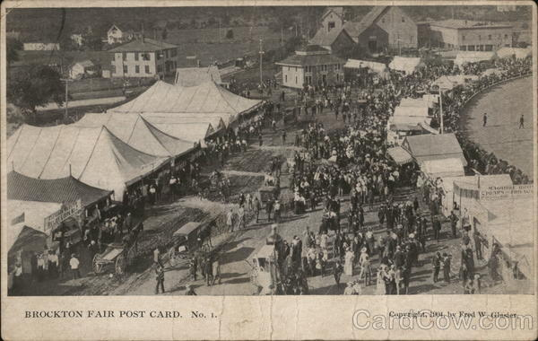 Brockton Fair Post Card Massachusetts