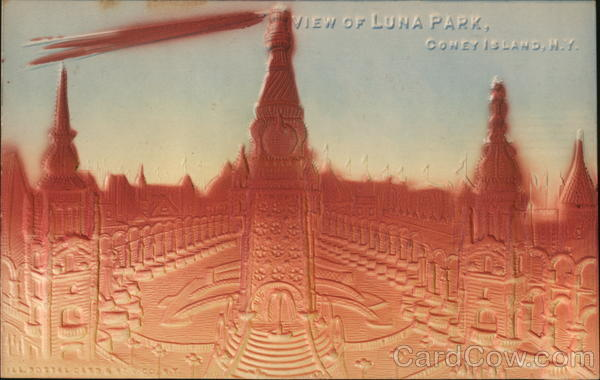 View of Luna Park Coney Island New York Airbrushed