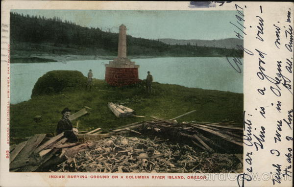 Indian Burying Ground on a Columbia River Island, Oregon