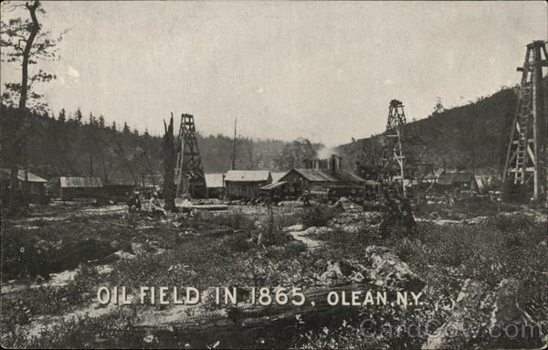 Oil Field in 1865 Olean New York
