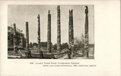 Alaska Totem Poles, Government Exhibit Lewis and Clark Centennial, 1905