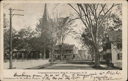 Congregational Church on Main St. Postcard