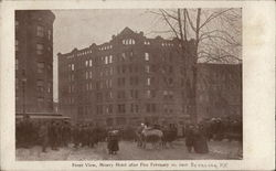 Front View, Mowry Hotel After Fire February 10, 1907