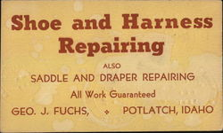 Shoe and Harness Repairing