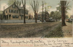 The Whittier's Home on Friend Street Postcard