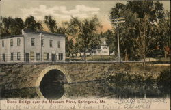 Stone Bridge Over the Mousam River Postcard