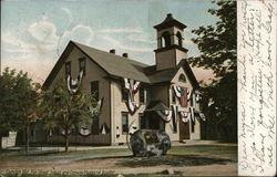 Elm Street School and Conway Memorial Boulder