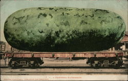 A California Watermelon on Railroad Car