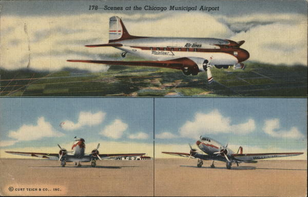 Scenes at the Chicago Municipal Airport Illinois